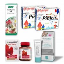 Piernas Ligeras Bonitas | PACK AHORRO | 2 Gel + 30 Viales + 84 Cáp. | 1 Mes | Mejora Circulación y Disimula Arañas Vasculares