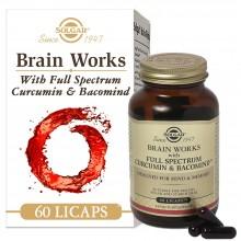 Brain Works | Solgar | 60 cáps. 1332mg | Producto para Incrementar la Memoria y Concentración