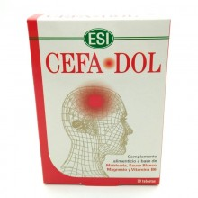 CefaDol | ESI Trepatdiet | 30 Tablet. 850 mg | Alivia el dolor de cabeza, las cefaleas y las migrañas