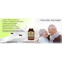 Rose Hips - Vitamina C | Solgar  | 100 comp de 1000 mgr | Inmunidad - Energía