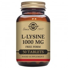 L-lisina  | Solgar  | 50 comp de 1000mgr |  Aminoácido esencial para el deporte