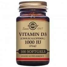 vitamina D3  | Solgar  | 100 cáps de 1000 IU (25 µg) | Aceite Hígado de Pescado | Inmunidad especialmente para invierno