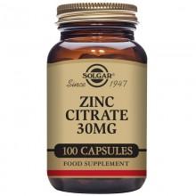 ZincCitrato  | Solgar  | 100 Cáps de 30 mgr | Inmunidad - Piel, Cabello, uñas
