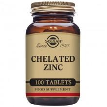 ZincQuelado  | Solgar  | 100 Comp de 22 mgr | Inmunidad - Piel, Cabello, uñas