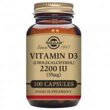 vitamina D3  | Solgar  | 100 Cáps de 2200IU (55µg) | Inmunidad - Huesos y Dientes Sanos