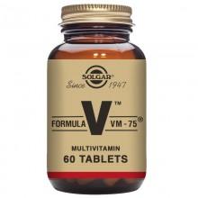 Fórmula VM-75 - Multivitamínico y Mineral | Solgar | 60 Comp de 75 mg | Sistema Inmunitario - Antioxidante