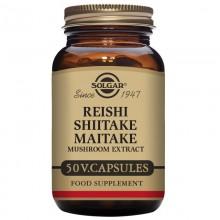 Reishi, Shiitake y Maitake | Solgar | 50 Cáps de 300 mgr | Inmunidad - Longevidad