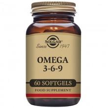 Omega 3-6-9  | Solgar | 60 Cáps de 1300 mgr | Pescado, Linaza y Borraja | Salud del corazón - Colesterol alto