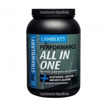 ALL-IN-ONE - Sabor a Fresa | Lamberts | 1450g en polvo| Aumenta la resistencia y la recuperación