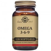 Omega 3-6-9  | Solgar | 120 Cáps de 1300 mg | Colesterol – tensión