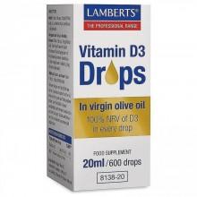 Vitamina D líquida  | Lamberts  | 20ml. (600 gotas) | Inmunidad - Huesos y Dientes Sanos