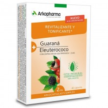 Guaraná y Eleuterococo | Arkocápsulas Complex | Arkopharma | 40 cáps de 462 mgr. | Estimulante