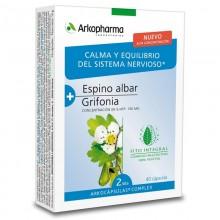 Espino Albar y Grifonia | Arkocápsulas Complex | Arkopharma | 40 cáps de 462 mgr. | Estrés – calmante