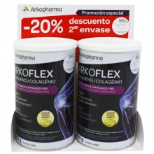 Colágeno Sabor Limón | Arkoflex | Arkopharma | 2 x 360 gr. en polvo | Suplementos vitamínicos - Minerales - Huesos