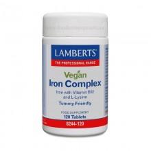 Complejo de Hierro para Veganos | Lamberts | 120 comps | Cansancio – sistema circulatorio