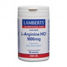 L-Arginina HCI    Lamberts   90 comps de 1000 mgr.   Sistema circulatorio