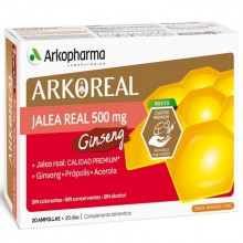 Pack Jalea Real + Ginseng | Arkoreal | Arkopharma | 20 ampollas de 15 ml. | Jalea Real - Energia y vitalidad