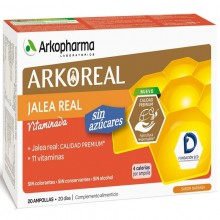 Pack Jalea Real – Light Baja en Azúcar | Arkoreal | Arkopharma | 20 ampollas de 15 ml. | 1000 mgr. | Jalea Real - Energía