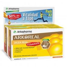 Jalea Real Vitaminada | Arkoreal | Arkopharma | 20 ampollas x2 de 15 ml. | 500 mgr. | Jalea Real - Energía