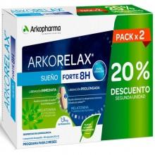 Sueño Forte 8H | Arkorelax | Arkopharma | 30 cáps, x2 | Insomnio y estrés