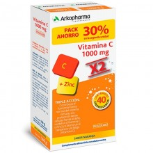 Arkopharma Vitamina C x2   Arkopharma   40 Comp. de 1000 mg  Energía y S. Inmunitario