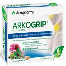 Arkogrip – 30 | Arkopharma | 30 Comp. 258 mg | Resfriados, Respiración, Fatiga, Defensas y Memória