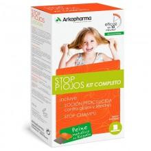 Stop Piojos Kit Completo (Loción Pediculicida + Champú + Lendrera) | Biocidas | Arkopharma | 100 + 125 ml | Antipiojos - Niños