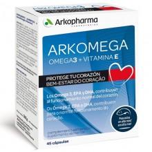 Arkomega 3 – 45 | Colesterol | Arkopharma | 45 Cáp. 1000 mg | Colesterol Alto - Salud cardiovascular