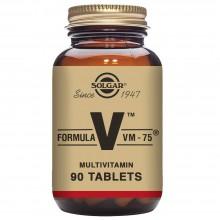 Fórmula VM-75 - Multivitamínico y Mineral | Solgar | 90 Comp de 75 mg | Sistema Inmunitario - Antioxidante