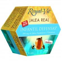 Royal-Vit Infantil| Jalea Real | Nutrition & Santé | 20 dosis | 600 mg con Equinacea y Vitaminas - Sistema defensivo niños