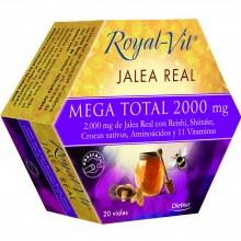 Royal-Vit Mega Total|Jalea Real|Nutrition & Santé|20 dosis|2000 mg con Reishi, Shiitake, Crocus sativus y Vitamina - Fatiga