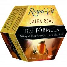 Royal-Vit Top Formula | Jalea Real | Nutrition & Santé | 20 dosis | 1.500 mg de Jalea, Avena, Acerola y Vitamina C - Fatiga