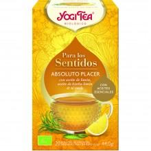 Yogi Tea| Absoluto Placer | Nutrition & Santé | 20 bolsas| Aceite de limón y Té Verde - Buen despertar