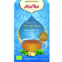 Yogi Tea| Puro Frescor | Nutrition & Santé | 20 bolsas| Menta piperita, hierbabuena, Jengibre Picante y hierba limón - Frescor