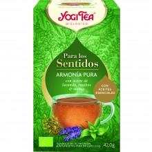 Yogi Tea| Armonía Pura | Nutrition & Santé | 20 bolsas| Aceite esencial de lavanda, melisa fresca y suave rooibos - Relajante
