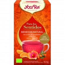 Yogi Tea| Bienestar Natural | Nutrition & Santé | 20 bolsas| Aceite esencial de Mandarina, Hibisco y espino amarillo - Fuerza