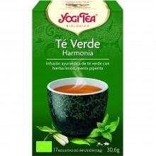 Yogi Tea| Té Verde Harmonía | Nutrition & Santé | 17 bolsas| Té Verde, kombucha, hierba limón, flor de saúco, menta - Equilibrio