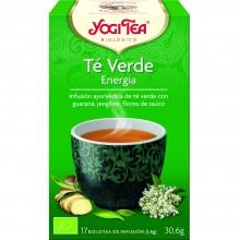 Yogi Tea| Té Verde Energía| Nutrition & Santé | 17 bolsas| Té Verde, kombucha, guaraná, hierba limón, flor sauco - Estimulante