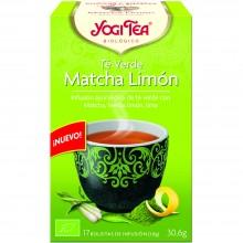 Yogi Tea| Té Verde Matcha Limón| Nutrition & Santé | 17 bolsas| Té Verde, matcha, hierba limón y lima - Estimulante