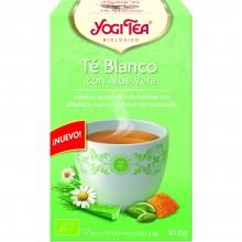 Yogi Tea| Té Blanco Aloe Vera| Nutrition & Santé | 17 bolsas| Té Blanco, Aloe Vera, cúrcuma, manzanilla, canela - Cuidado Piel