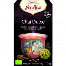 Yogi Tea| Chai Dulce | Nutrition & Santé | 17 bolsas| Anís, hinojo, regaliz y clavo - Disfrutar