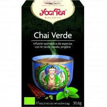 Yogi Tea| Chai Verde| Nutrition & Santé | 17 bolsas| Té Verde, hierbabuena, cardamomo y canela - Estimulante