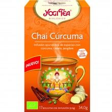 Yogi Tea| Chai Cúrcuma| Nutrition & Santé | 17 bolsas| Chai, Cúrcuma y Canela - Relajante