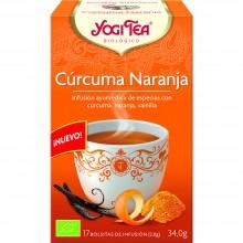 Yogi Tea| Cúrcuma Naranja| Nutrition & Santé | 17 bolsas| Cúrcuma, Naranja, Vainilla - Relajante