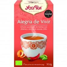 Yogi Tea| Alegría de vivir| Nutrition & Santé | 17 bolsas| Canela, jengibre, cardamomo, Chile y Pimienta negra - Reconfortante