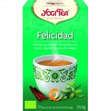 Yogi Tea| Felicidad| Nutrition & Santé | 17 bolsas| Albahaca, Hinojo, Canela, Fenogreco - Felicidad