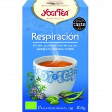 Yogi Tea| Respiración| Nutrition & Santé | 17 bolsas| Eucalipto, Tomillo, Albahaca, Canela, Cardamomo y Jengibre - Respirar