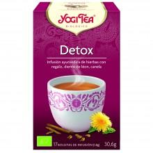 Yogi Tea| Detox| Nutrition & Santé | 17 bolsas| Cardamomo, Jengibre, Regaliz dulce, Cilantro, Salvia, Hinojo - Detox