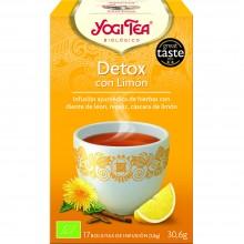 Yogi Tea| Detox con Limón| Nutrition & Santé | 17 bolsas| Jengibre, Regaliz dulce, Diente de león - Detox