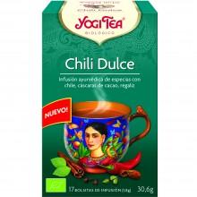 Yogi Tea| Chili Dulce | Nutrition & Santé | 17 bolsas| Chile, Cardamomo, Clavo y Canela - Tranquilidad y Concentración
